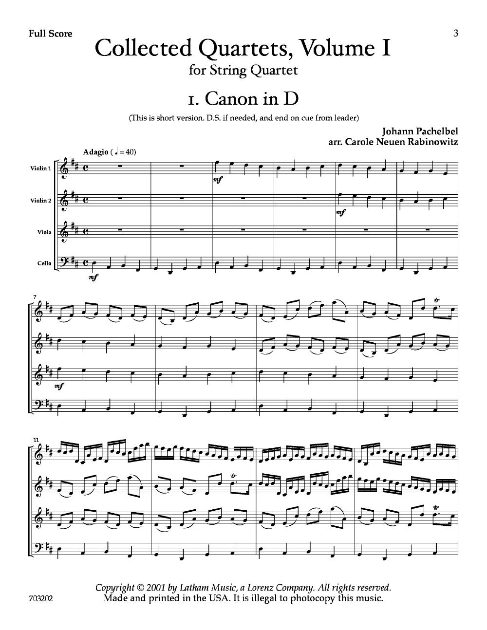Collected Quartets Volume 1 2 Violins Viola C Jw Pepper