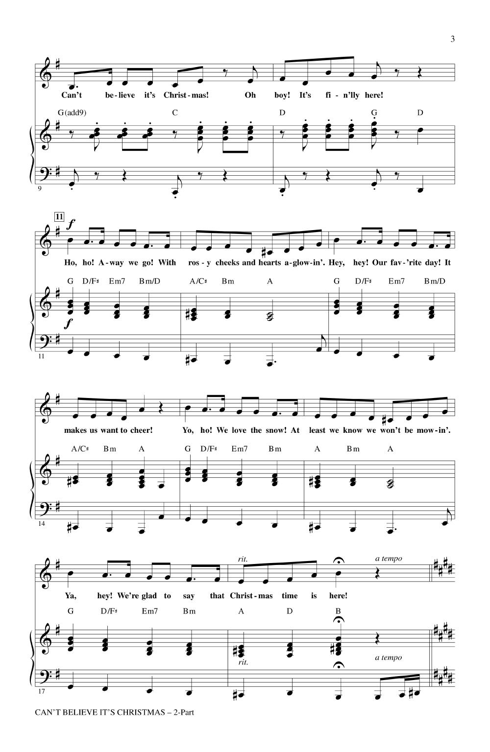 Can\'t Believe It\'s Christmas (Two-Part ) arr | J.W. Pepper Sheet Music