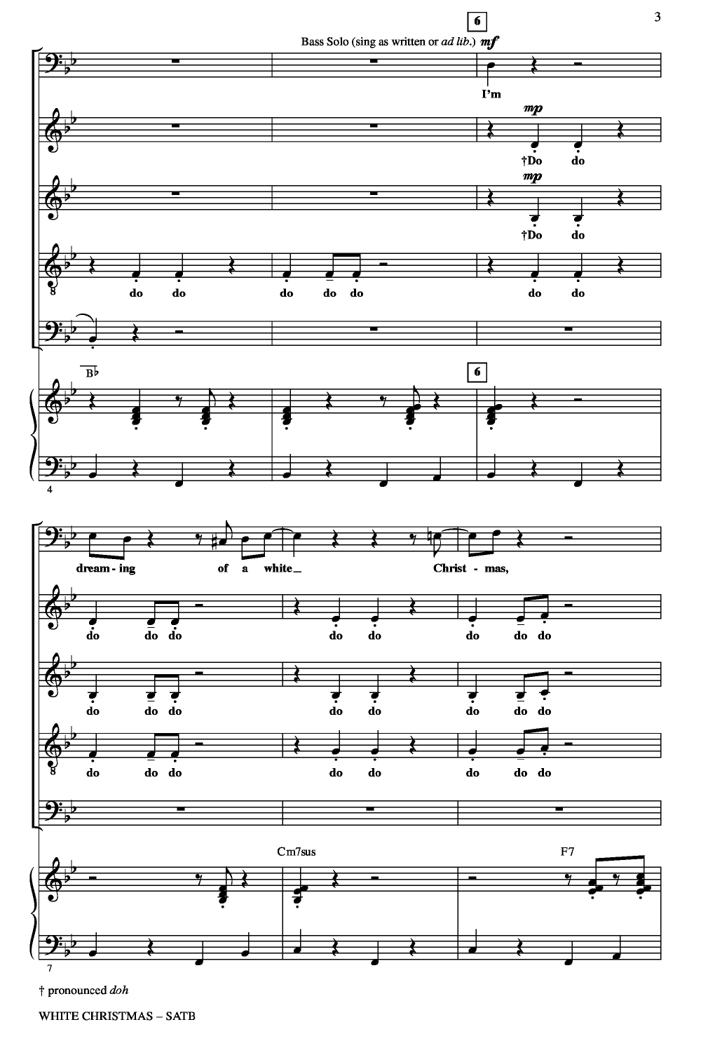 White Christmas (SATB ) arr. Audrey Snyder| J.W. Pepper Sheet Music