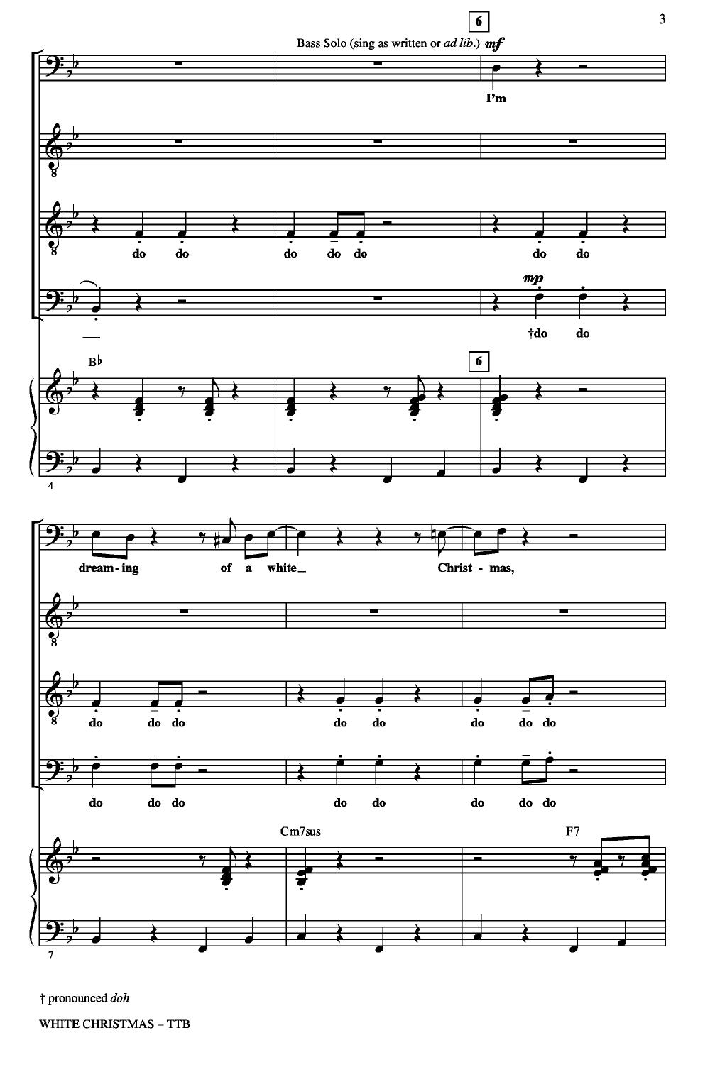 White Christmas (TTB ) arr. Audrey Snyder| J.W. Pepper Sheet Music