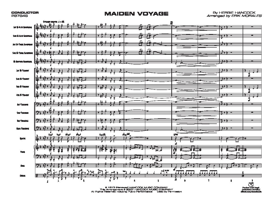 maiden voyage lead sheet