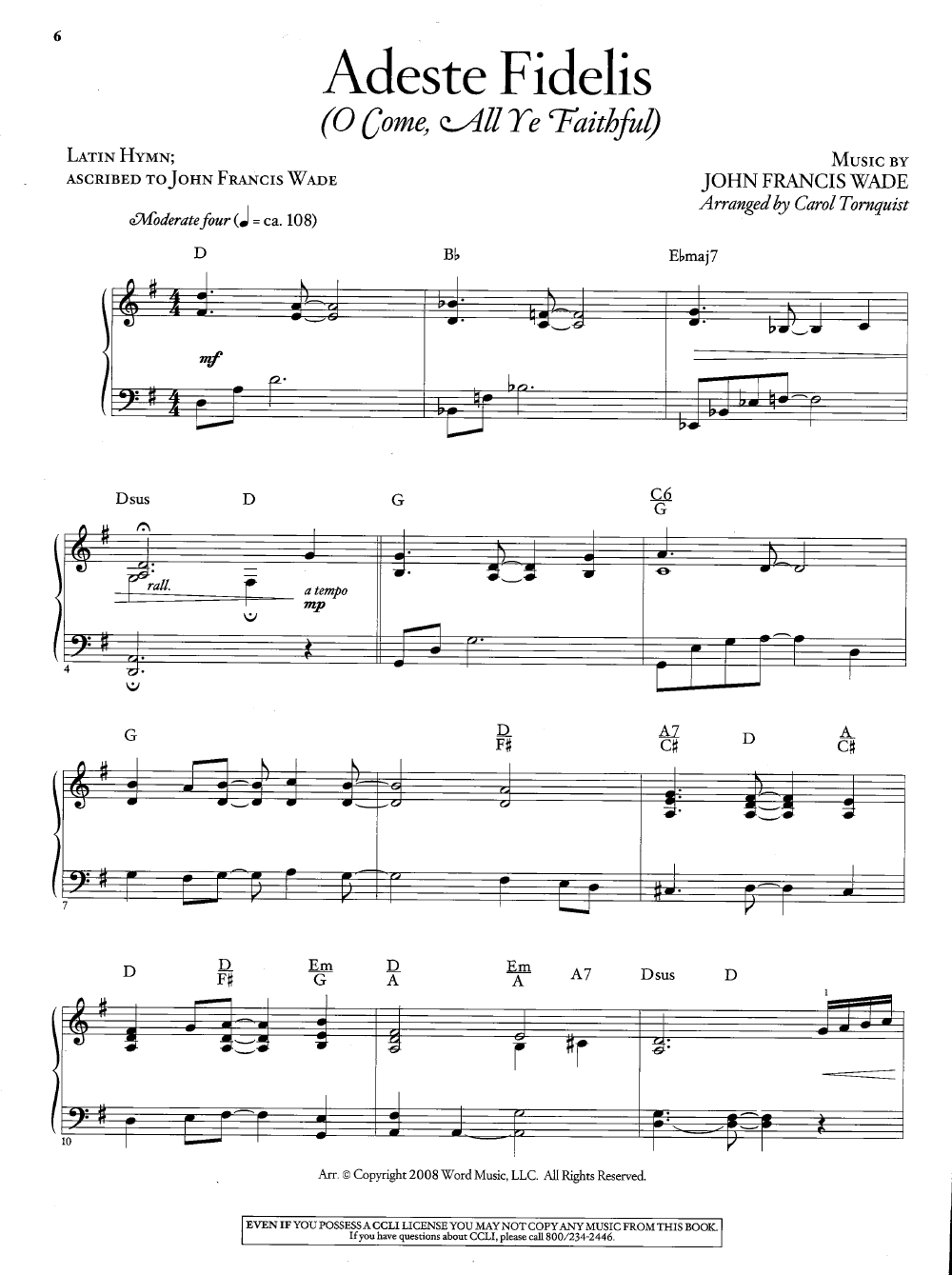 It is a photo of Impeccable Christmas Songs Piano Sheet Music