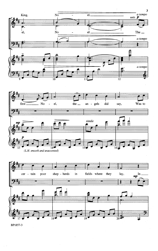The First Noel Satb Arr Dan Forrest Jw Pepper Sheet Music