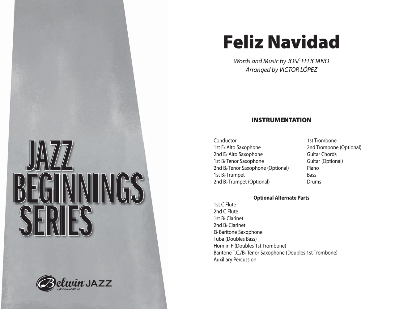 Feliz Navidad Additional Score By Jose Fe Jw Pepper Sheet Music