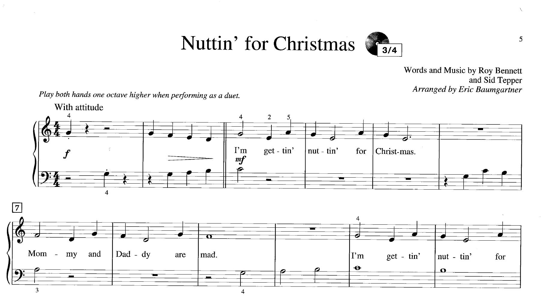 nuttin for christmas sheet music - Heart.impulsar.co