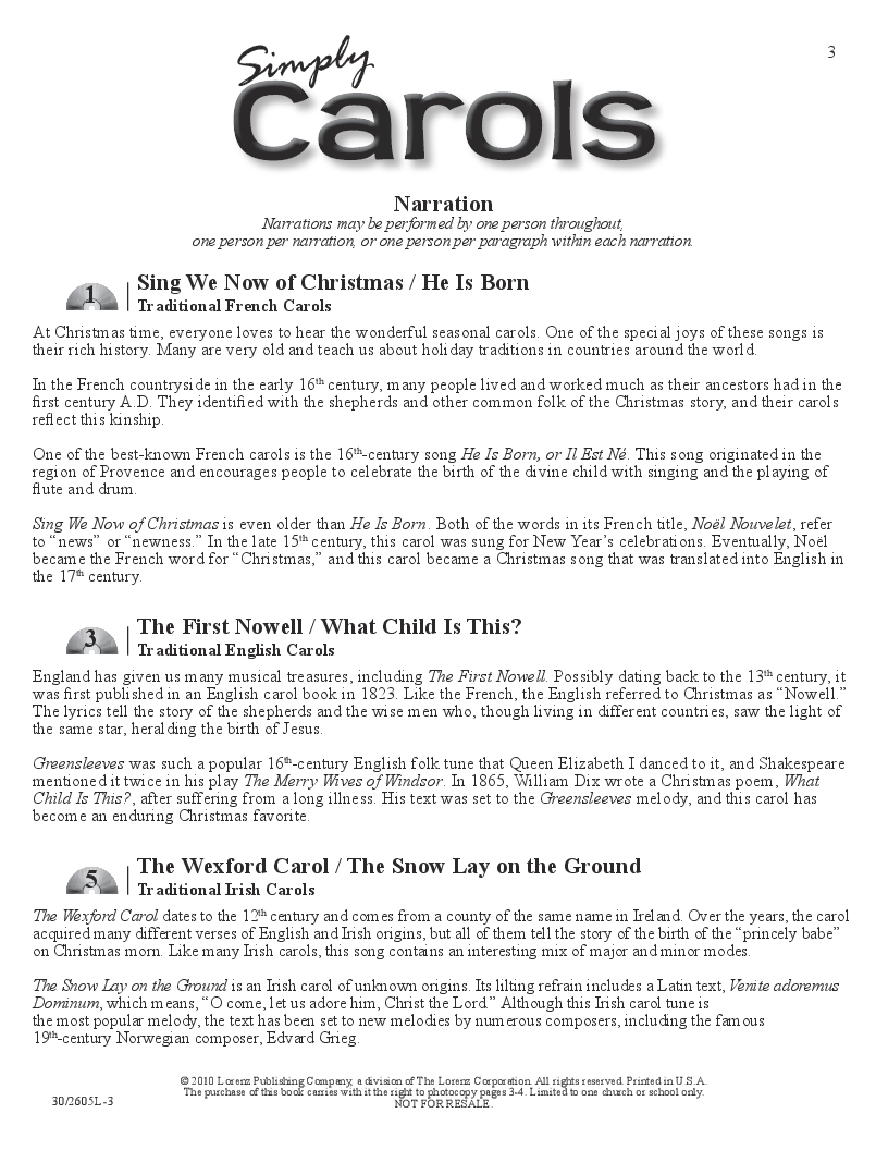 Simply Carols (Unison/Two-Part Book & CD Pac | J.W. Pepper Sheet Music