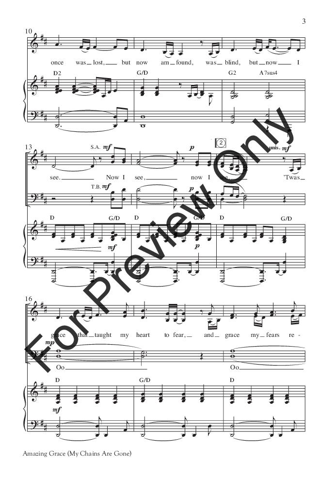 Amazing Grace Satb By Chris Tomlin Loui Jw Pepper Sheet Music