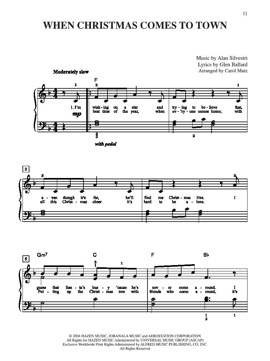 The Polar Express (Big Note Piano arr. Matz | J.W. Pepper Sheet Music