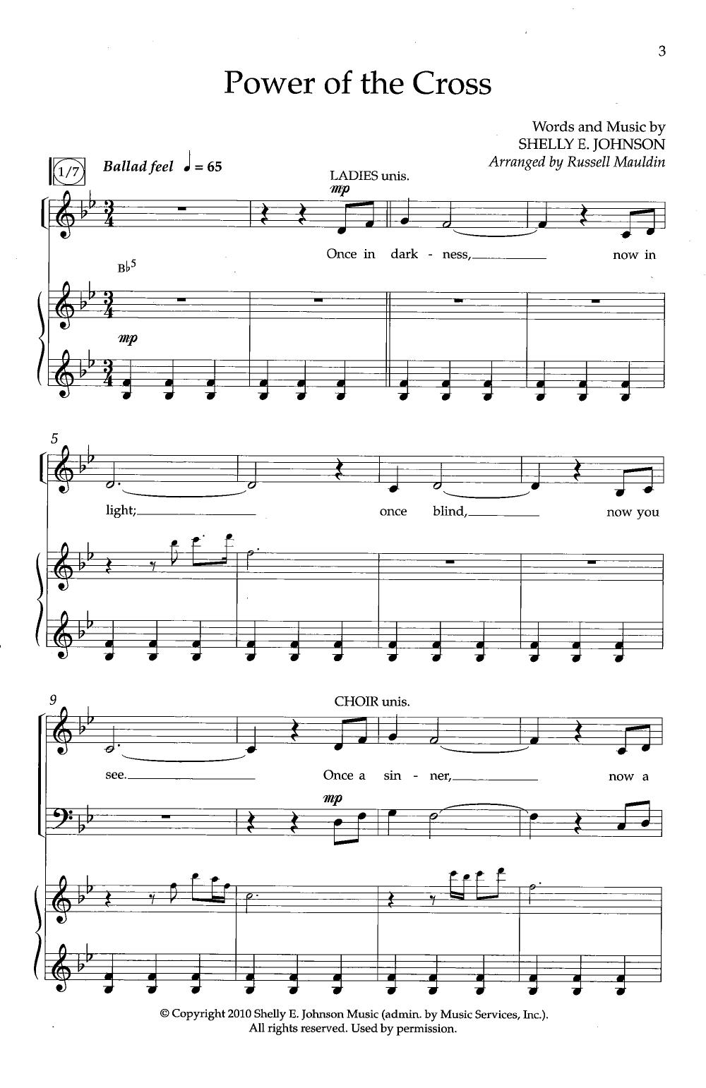 Power of the Cross SATB  by Shelly E. John   J.W. Pepper Sheet Music