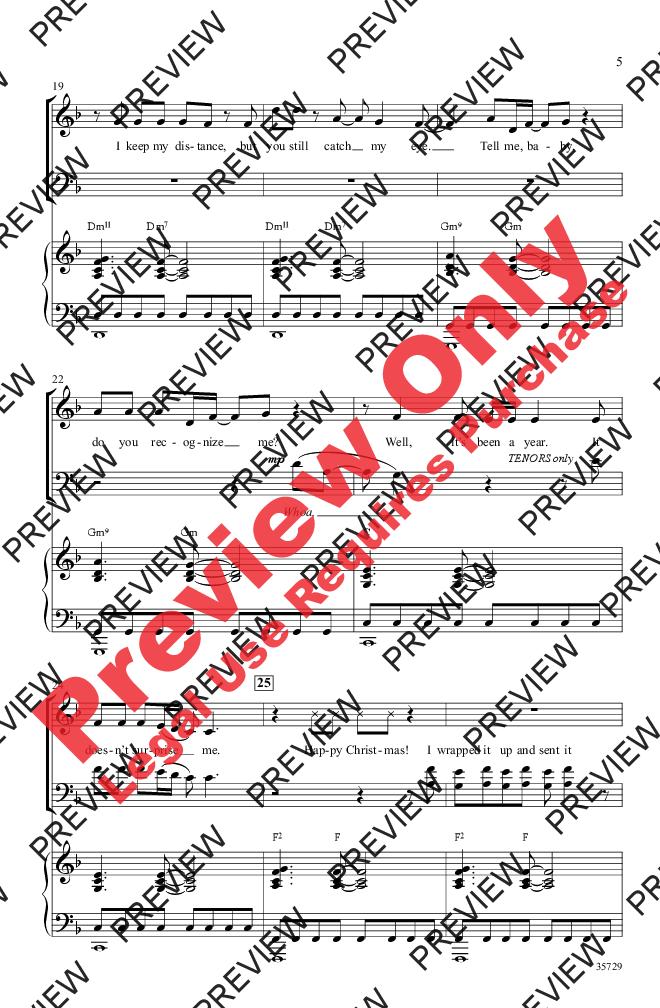 Last Christmas (SATB ) by George Michael/arr | J.W. Pepper Sheet Music