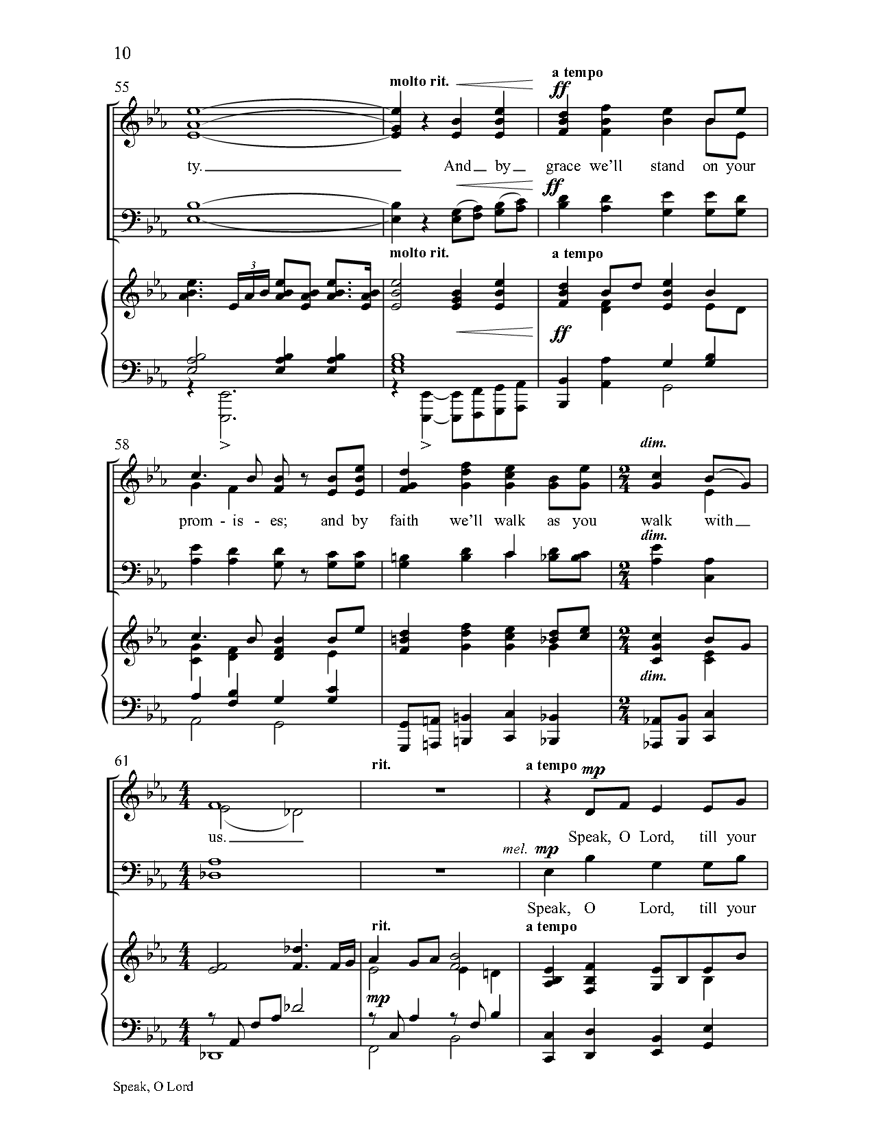 Speak O Lord Satb By Keith Getty Stuar Jw Pepper Sheet Music