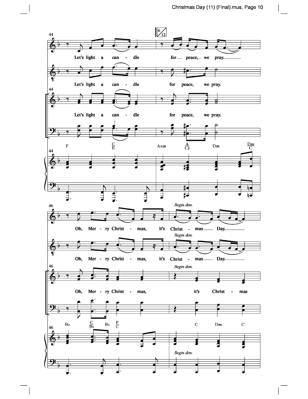 Christmas Day (SATB ) by Michael W. Smith/ a   J.W. Pepper Sheet Music