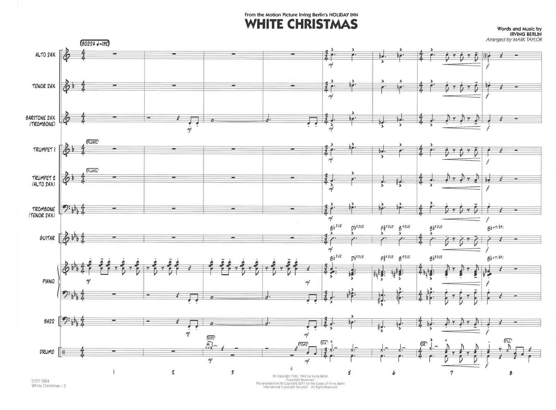 White Christmas by Irving Berlin/arr. Mark Taylor  J.W. Pepper Sheet ...