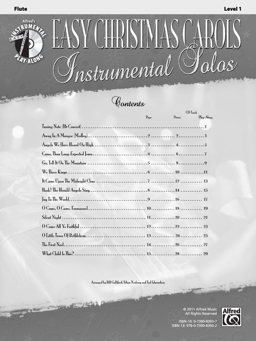 Easy Christmas Carols Instrumental Solos (Flute&n | J.W. Pepper ...