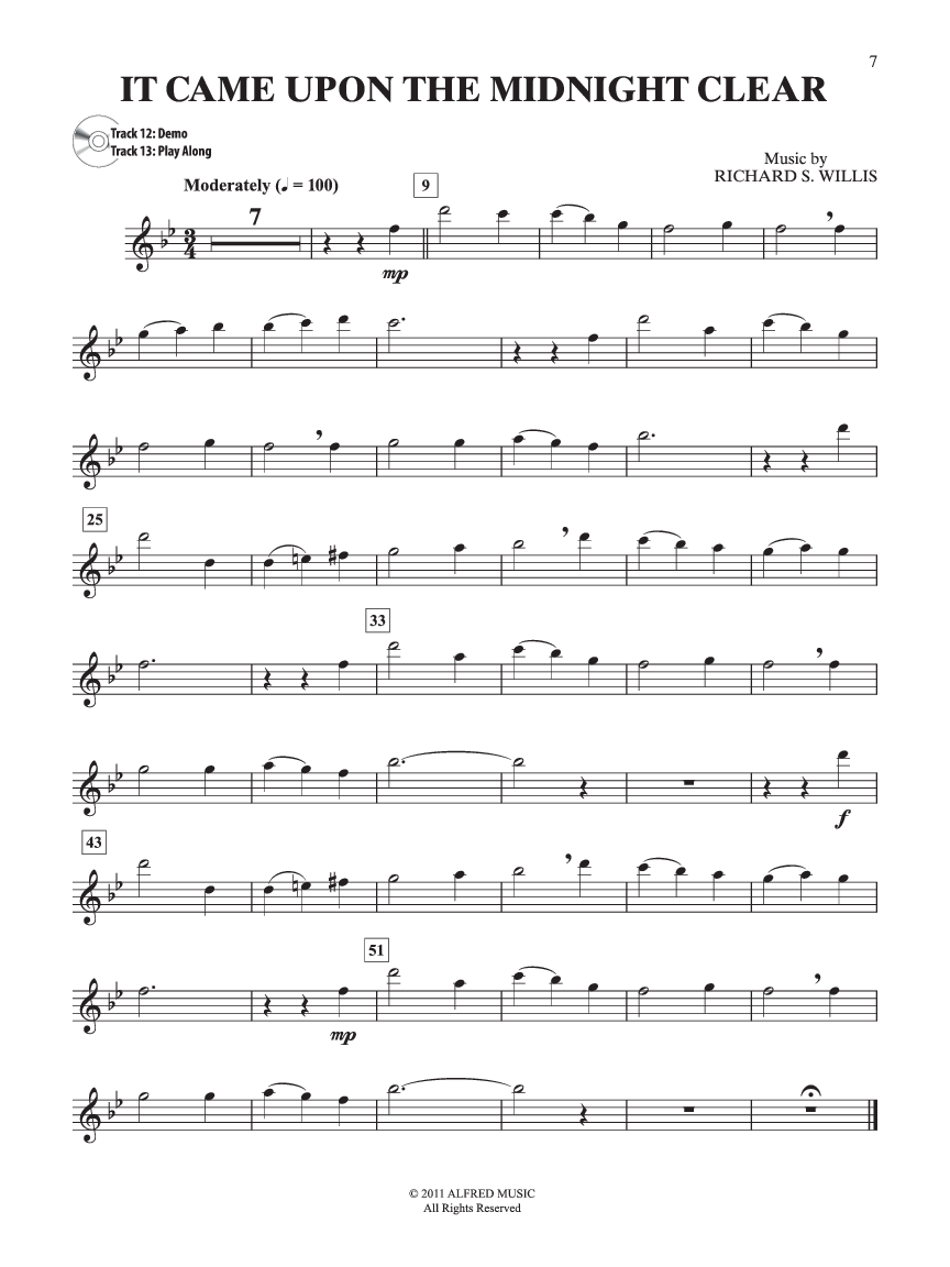 Easy Christmas Carols Instrumental Solos (Flute&n | J.W. Pepper ...
