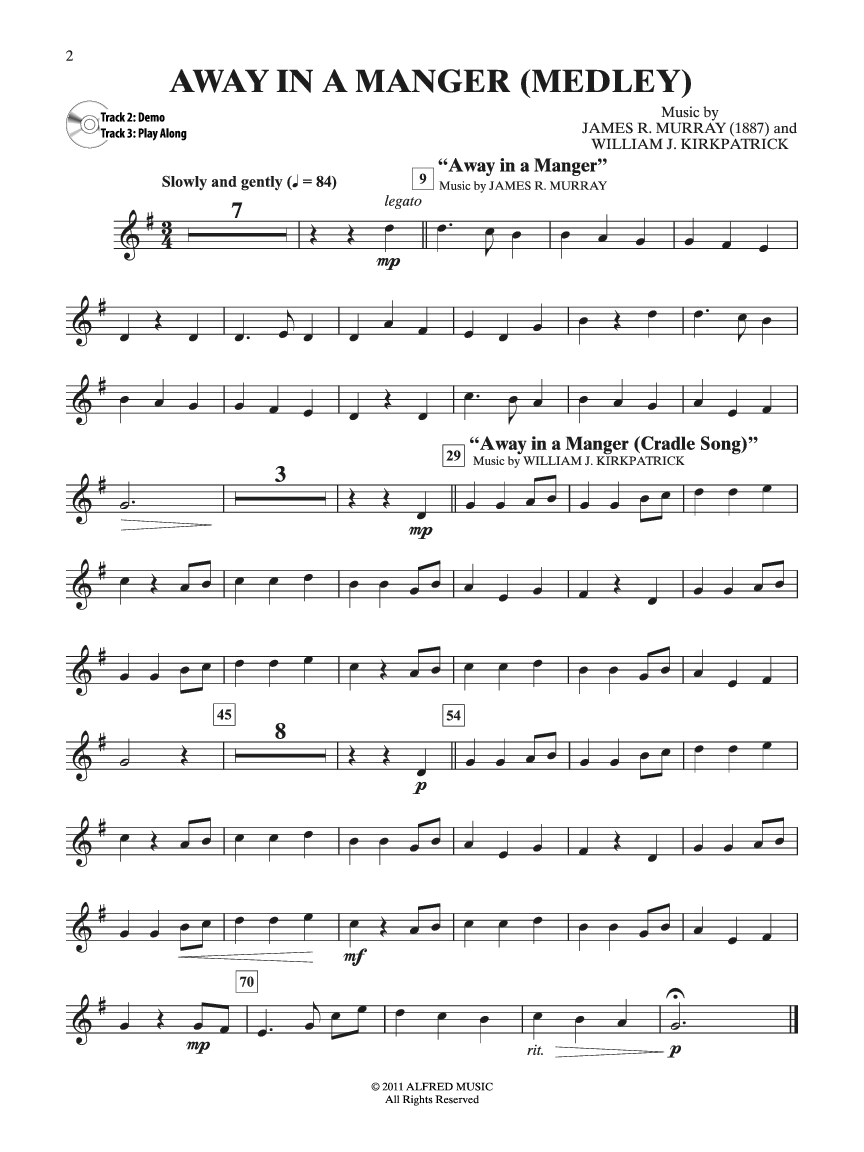 Easy Christmas Carols Instrumental Solos (Trumpet | J.W. Pepper ...