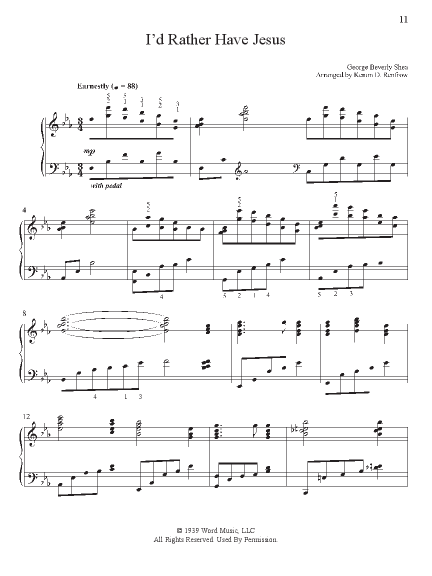 Sacred Favorites 2 Piano Arr Ken Renfrow Jw Pepper Sheet Music