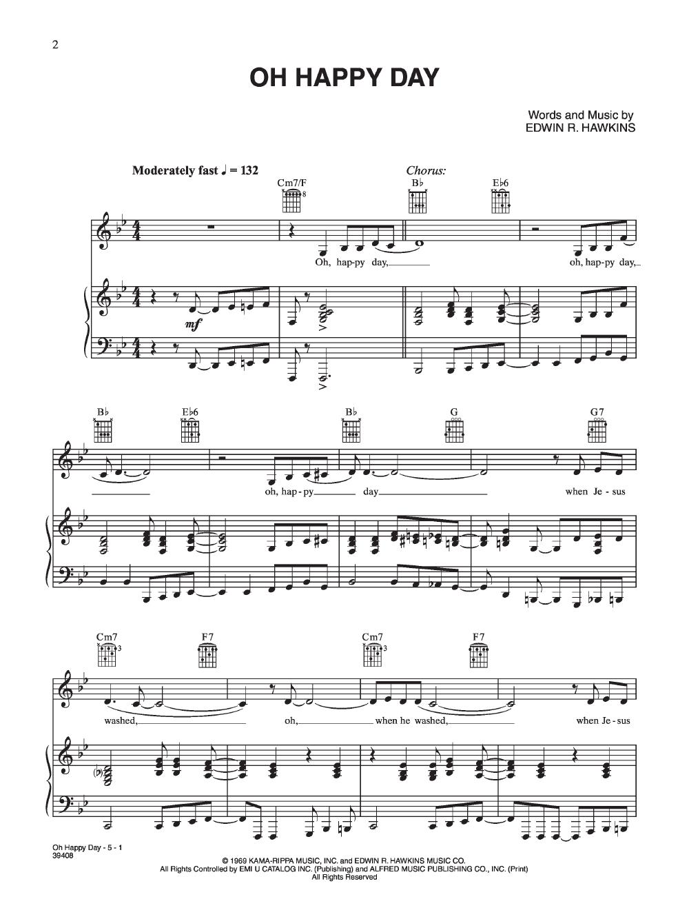 Oh Happy Day By Edwin R Hawkins Jw Pepper Sheet Music