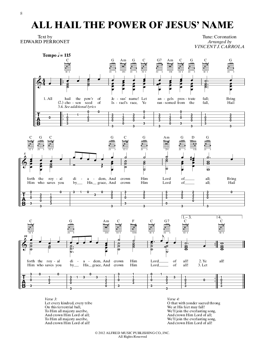 The Worship Leaders Guitar Hymn Book Arr Vincen Jw Pepper
