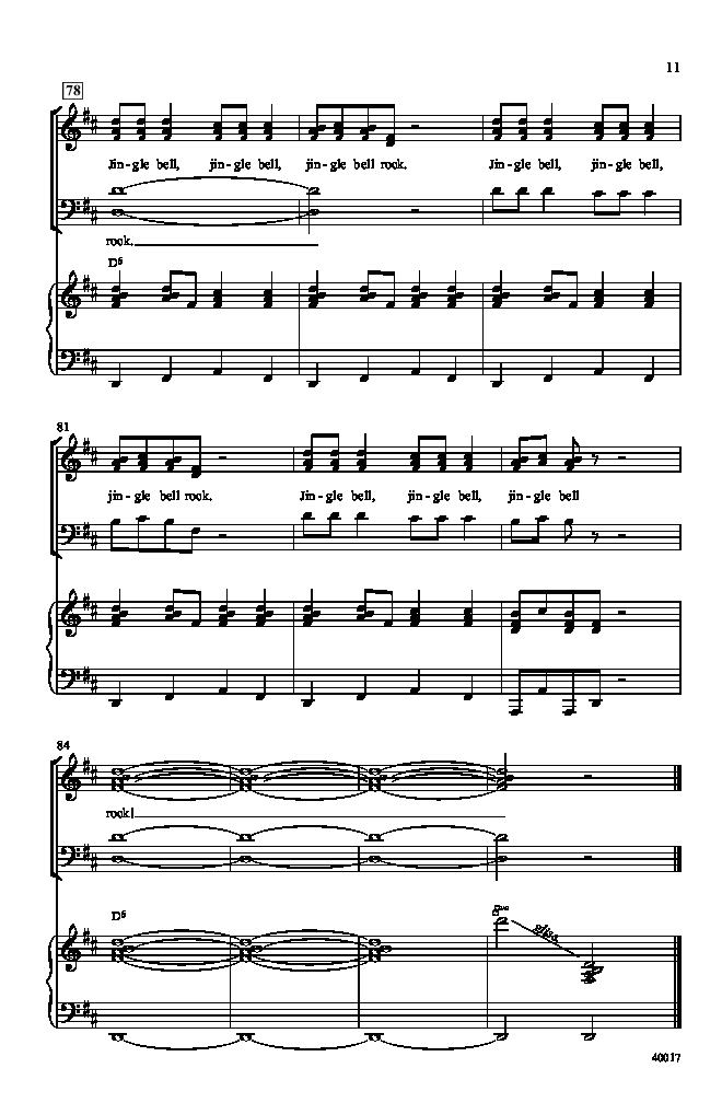Jingle Bell Rock (SATB ) arr. Alan Billingsl   J.W. Pepper Sheet Music