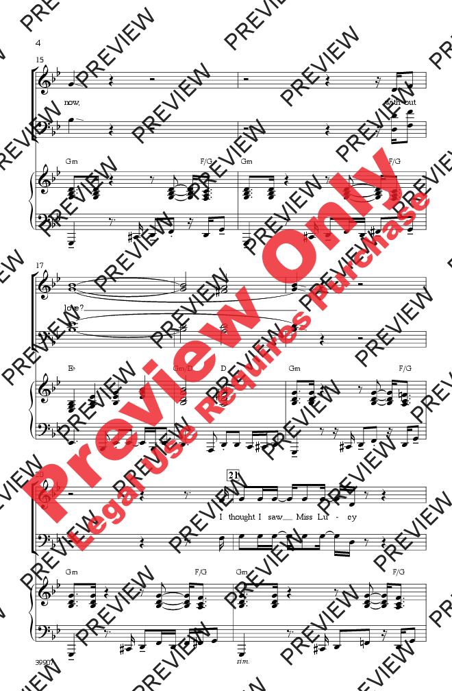 Long Train Runnin Satb Arr Kirby Shaw Jw Pepper Sheet Music