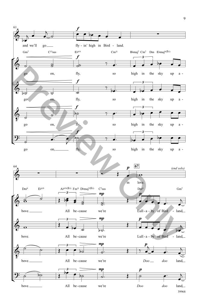 lullaby of birdland piano solo sheet music pdf