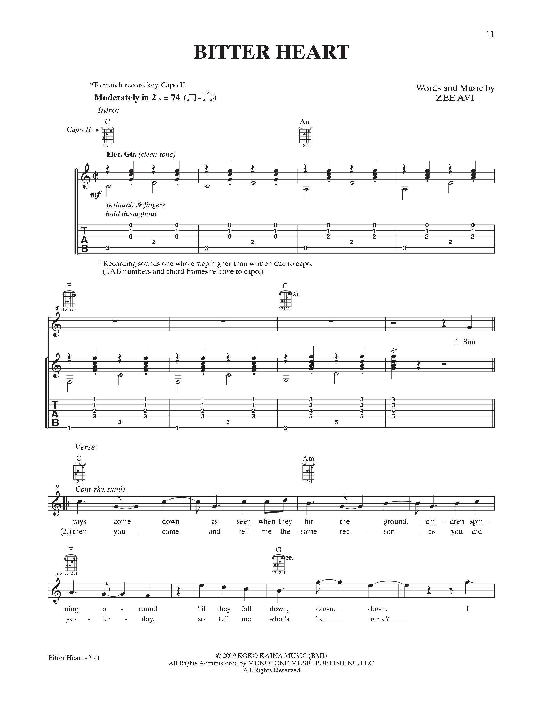 Zee Avi Guitar Songbook By Zee Avi Jw Pepper Sheet Music