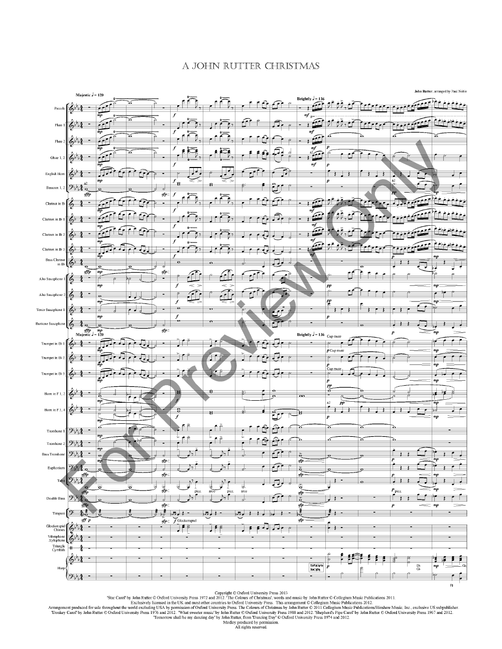 A John Rutter Christmas by John Rutter/arr. Paul | J.W. Pepper Sheet ...