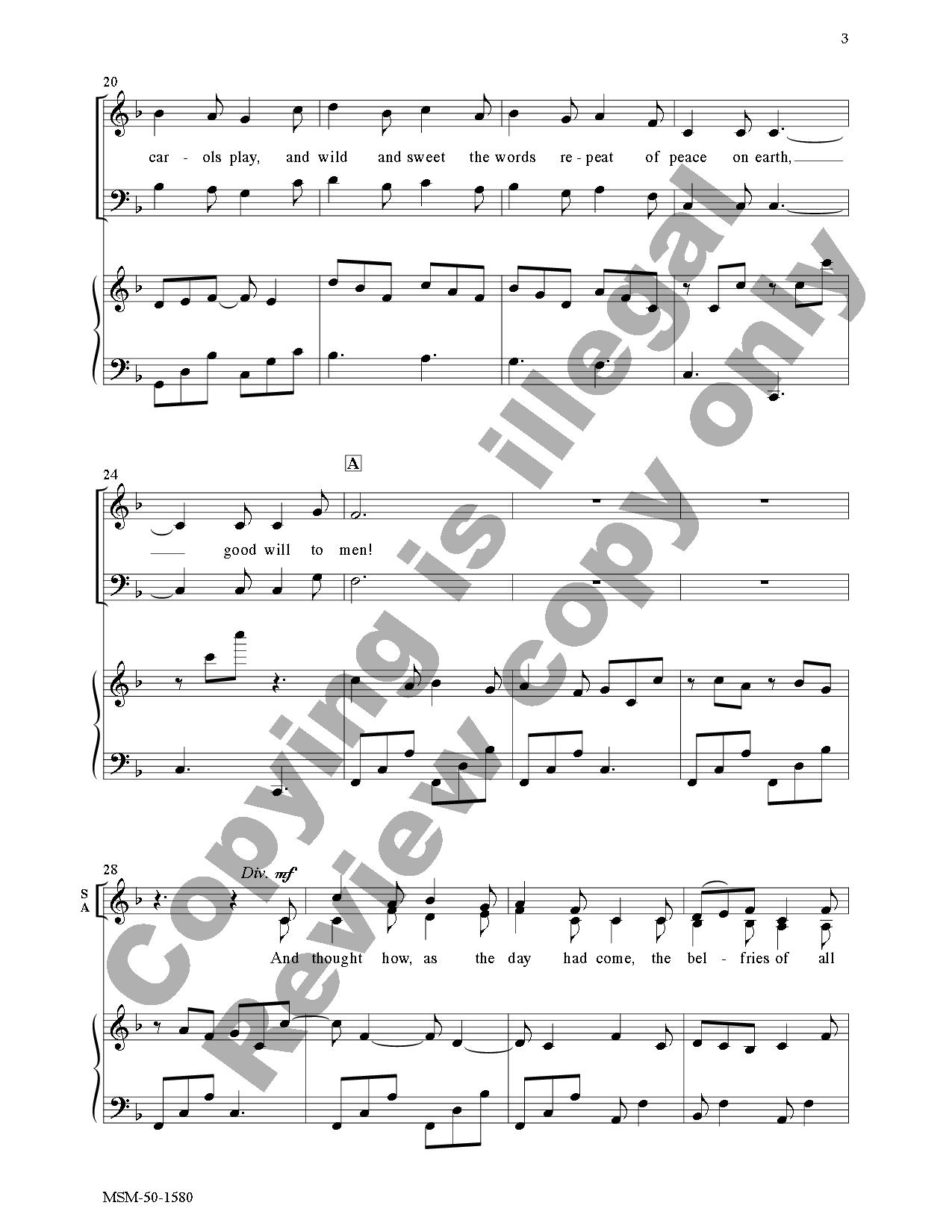 I Heard the Bells on Christmas Day (SATB ) b   J.W. Pepper Sheet Music