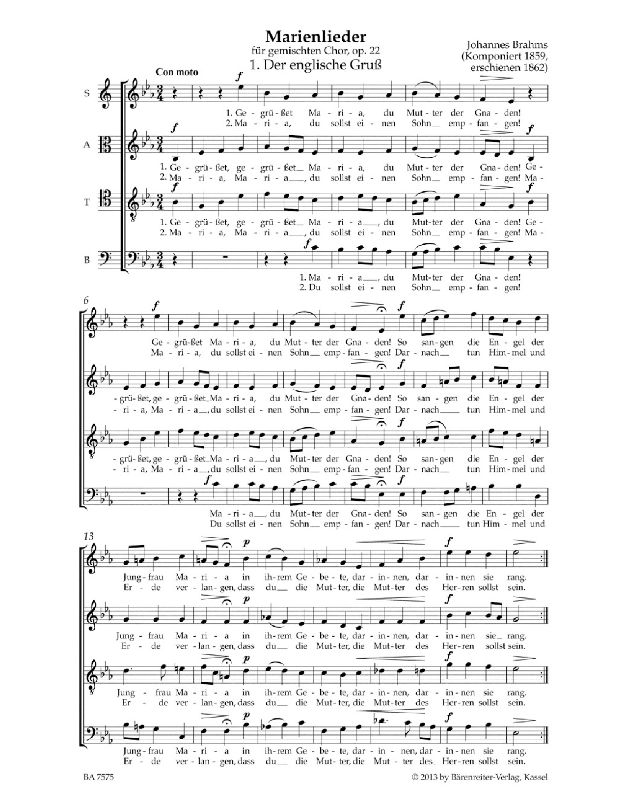 Choral Score Analysis and Preparation