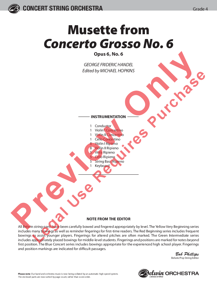 Musette from Concerto Grosso No. 6 Thumbnail
