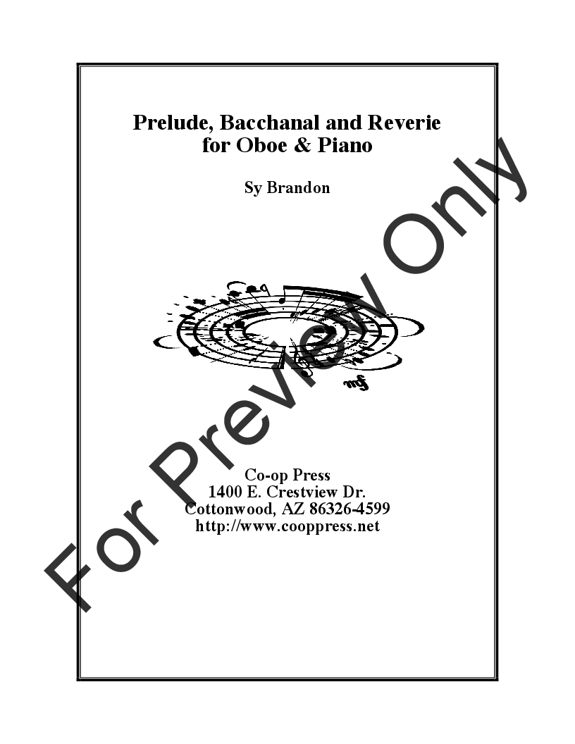 Prelude, Bacchanale, and Reverie Thumbnail