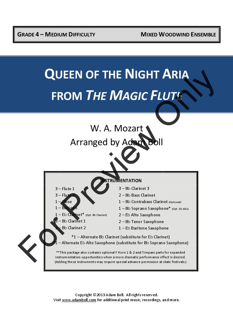 Queen of the Night Aria Thumbnail