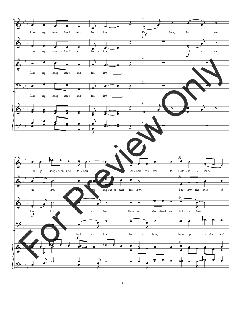 how to follow a music score