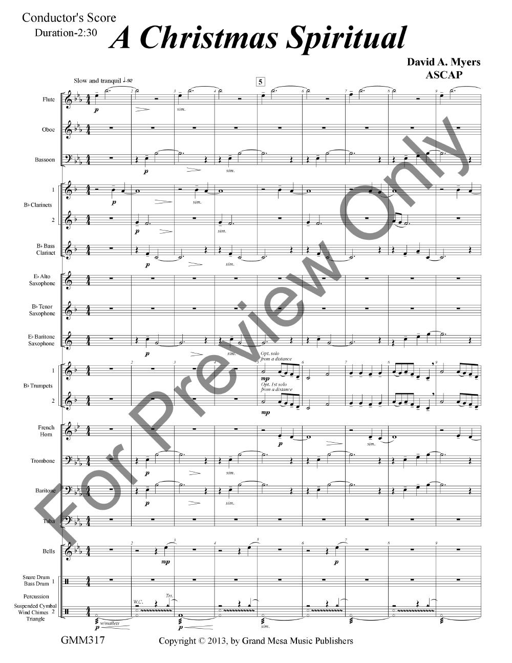 A Christmas Spiritual arr. David A. Myers| J.W. Pepper Sheet Music