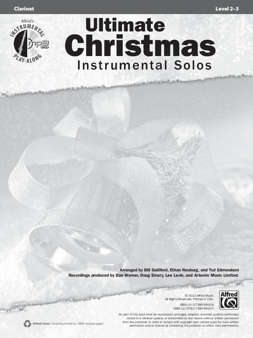 Ultimate Christmas Instrumental Solos (Clarinet&n | J.W. Pepper ...