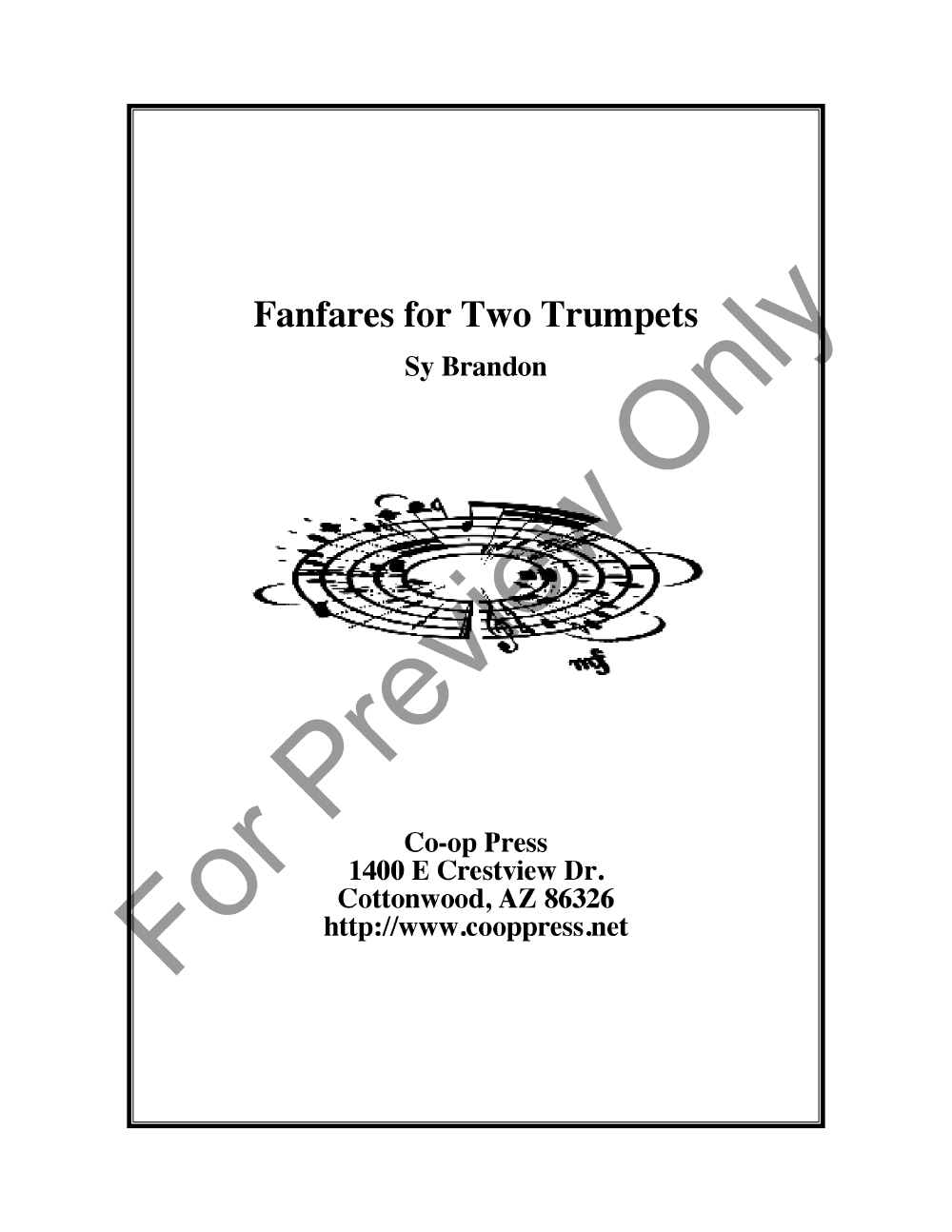 Fanfares for Two Trumpets Thumbnail
