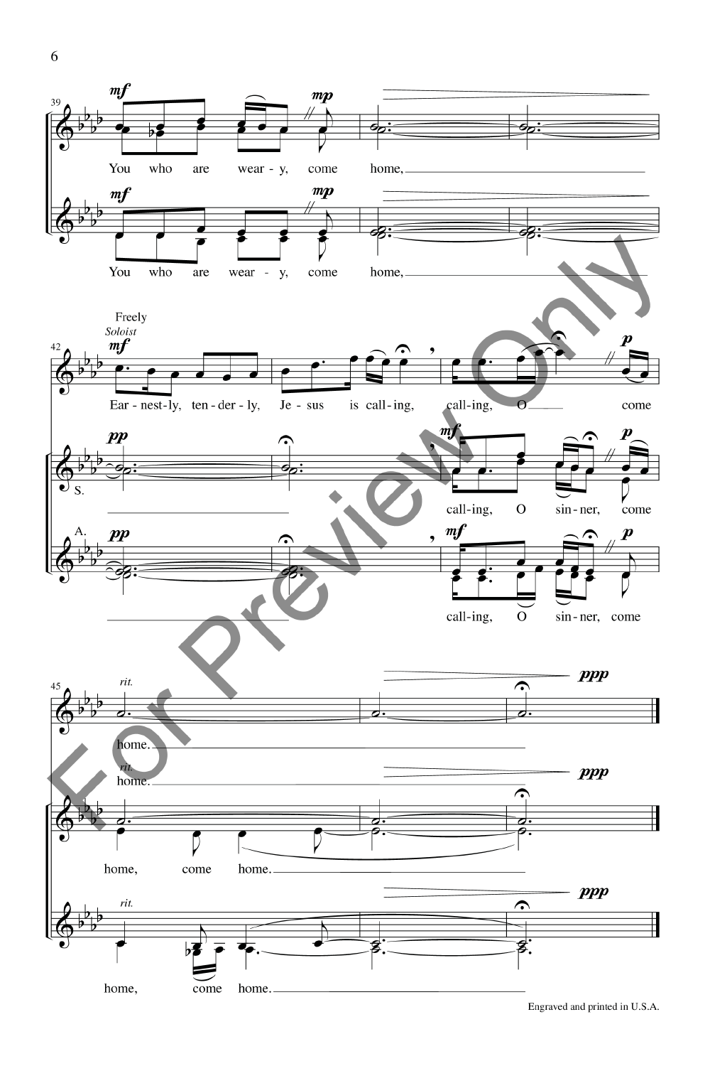 softly and tenderly jesus is calling sheet music pdf