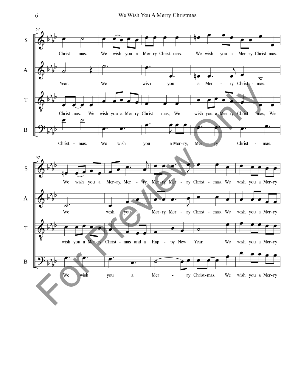 We Wish You A Merry Christmas (SATB ) by Tra | J.W. Pepper Sheet Music