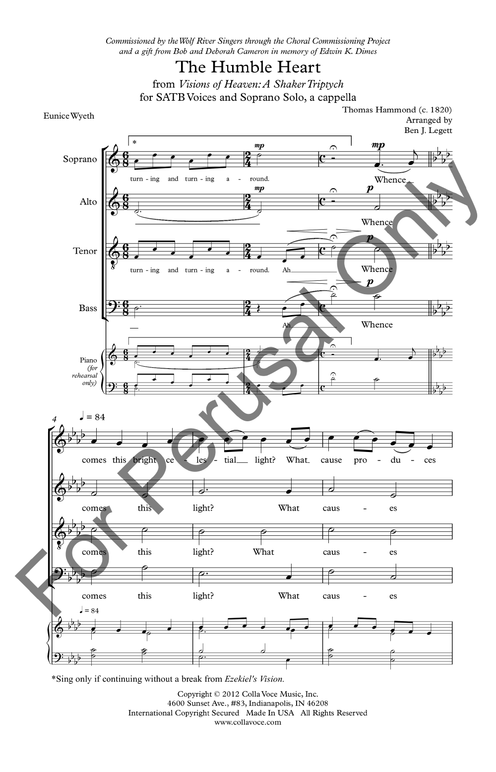The humble heart satb by thomas hammond jw pepper sheet music ccuart Image collections