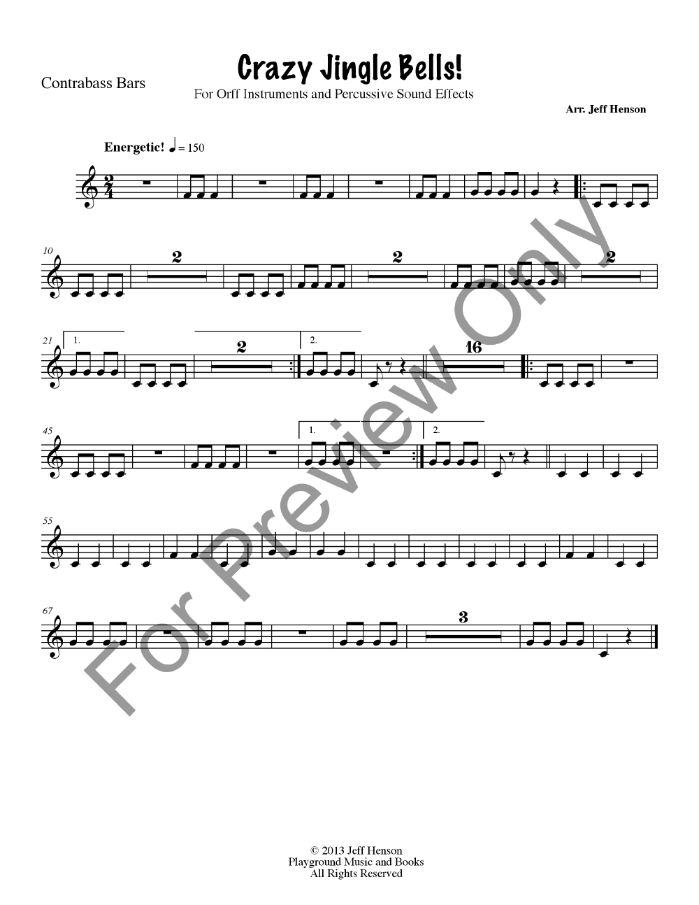 Crazy Jingle Bells Percussion Ensemble Jw Pepper Sheet Music
