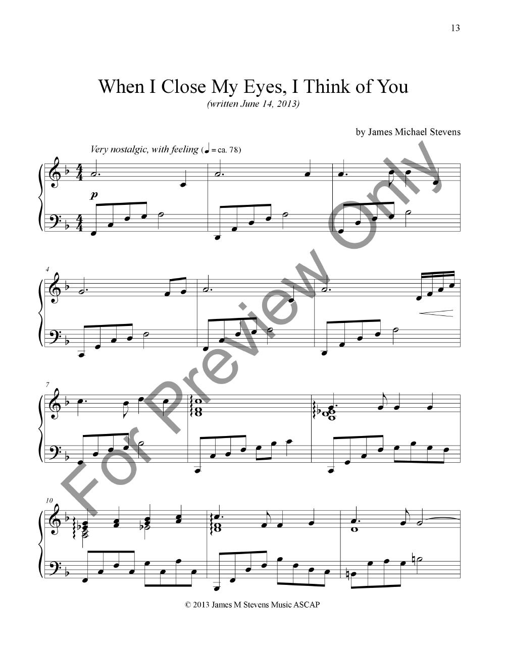Relaxing Romantic Piano Piano By James Jw Pepper Sheet Music
