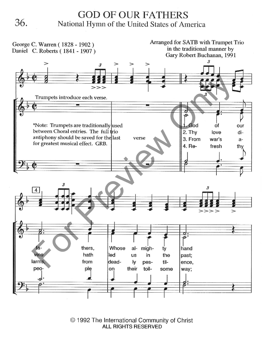 God of our fathers satb by gc warren jw pepper sheet music god of our fathers gc warren dc robertsarr gary buchanan the music guild thecheapjerseys Images