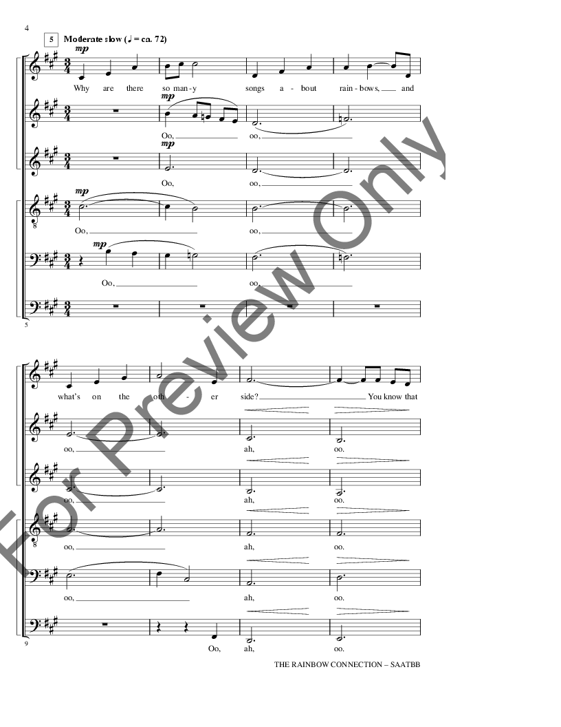 Rainbow Connection Sheet Music Keninamas