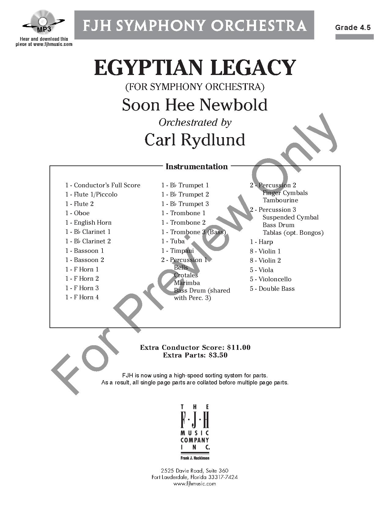 egyptian legacy by soon hee newbold  arr  carl ryd