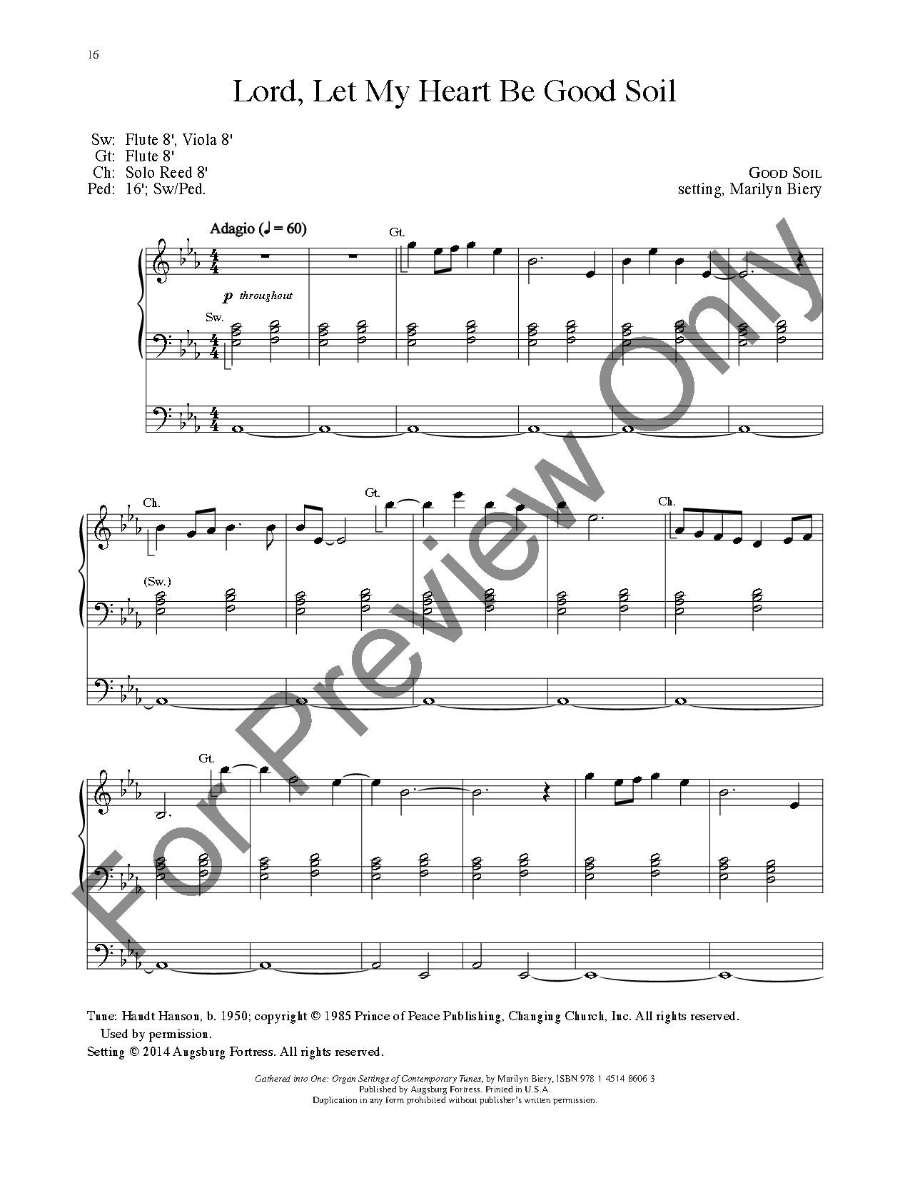 Gathered Into One By Marilyn Biery Jw Pepper Sheet Music