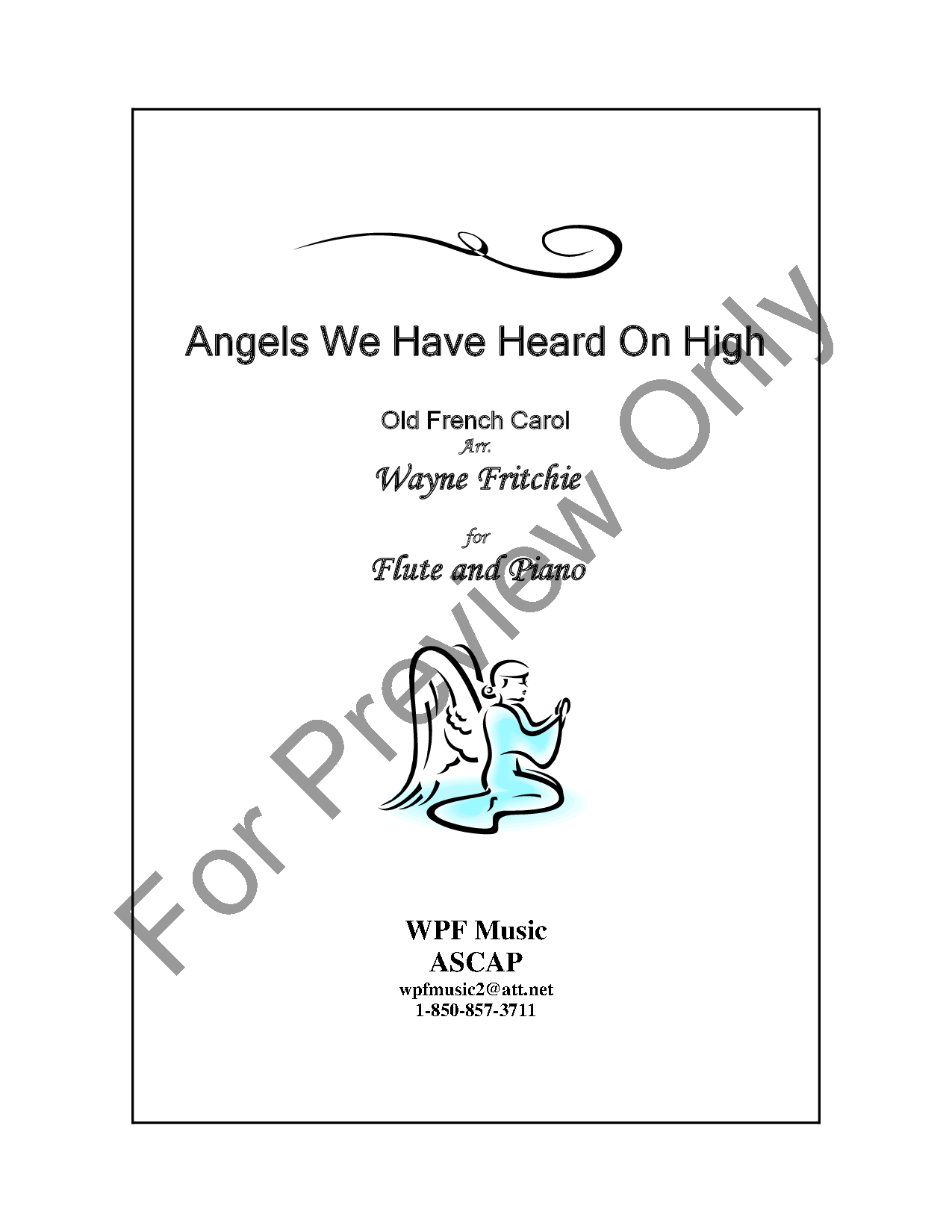 Angels We Have Heard On High Flute Solo Wit Jw Pepper Sheet Music