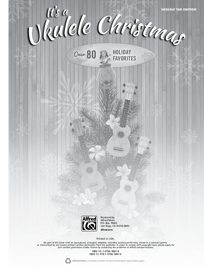 It\'s a Ukulele Christmas by Various Composers  J.W. Pepper Sheet Music