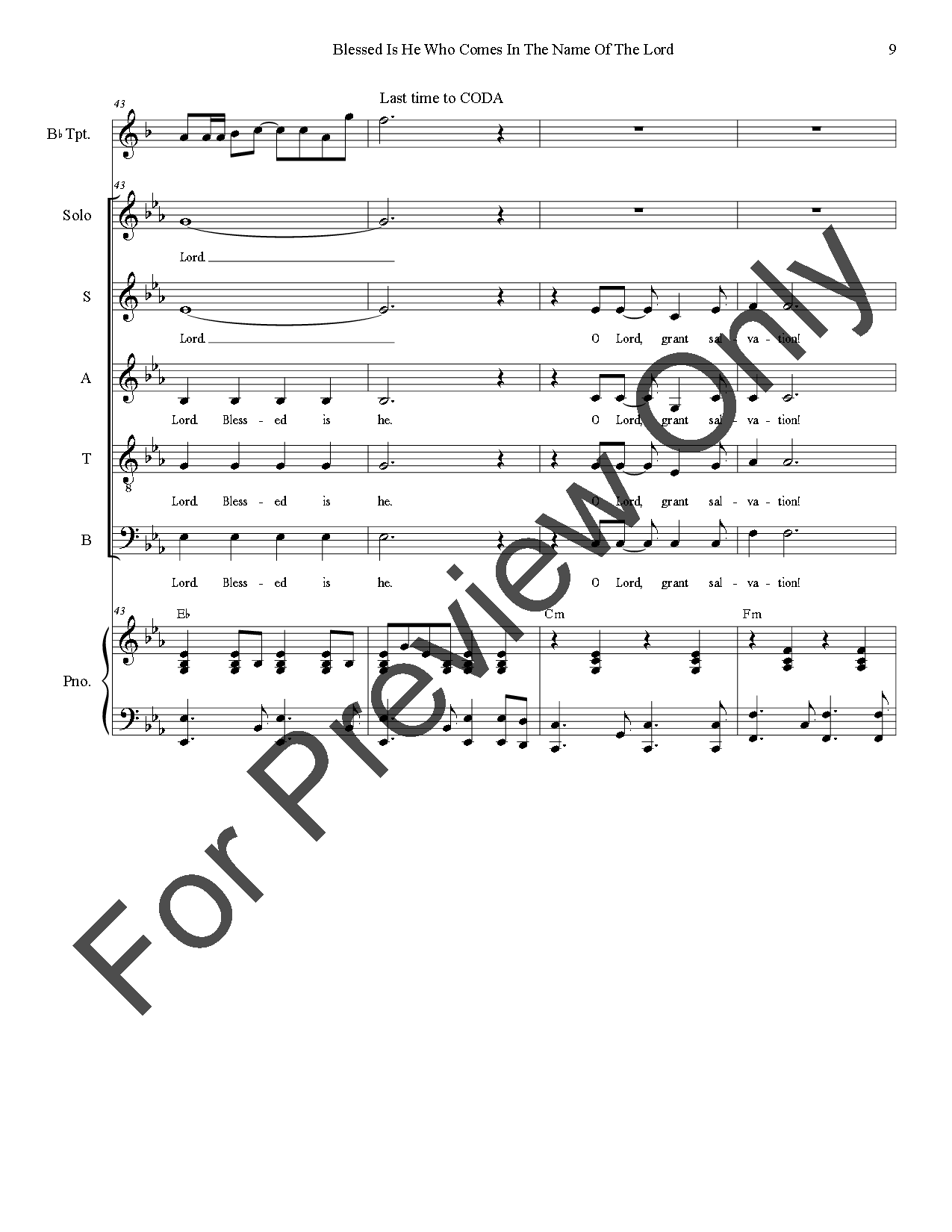 blessed be the name of the lord sheet music pdf