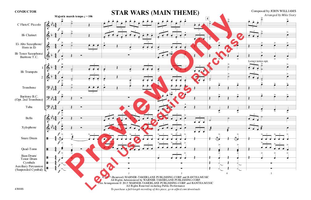 Star Wars (Main Theme) (Score) by John Williams/a | J.W. Pepper ...